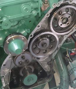 volvo penta motor met tandwiel distributie